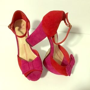 Red & Pink Chunky Platforms